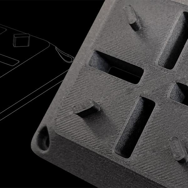 Pieza impresa con la impresora MakerBot METHOD Carbon Fiber Edition