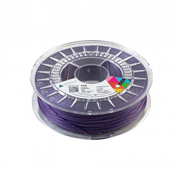 Smartfill Filamento PLA GLITTER Violeta Escarcha 750g 1.75